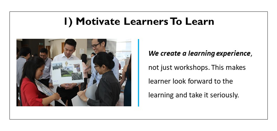 Motivate learners to learn
