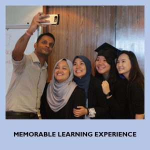 Memorable learning experience